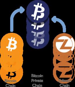 ZCLとBTCのフォーク